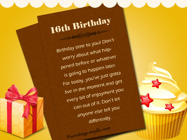 sweet 16th birthday greetings quotes