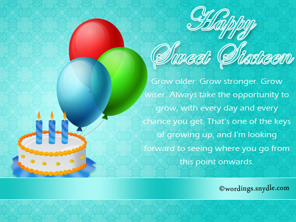 16th Birthday Messages And Greetings