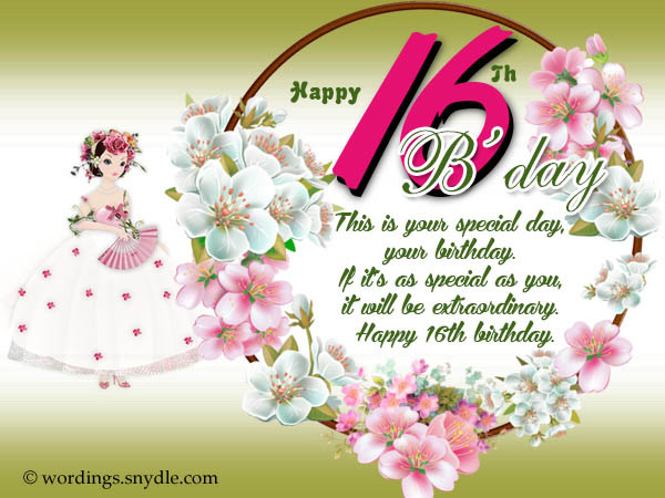 16th birthday wishes messages and greetings wordings and messages 16th birthday greetings m4hsunfo