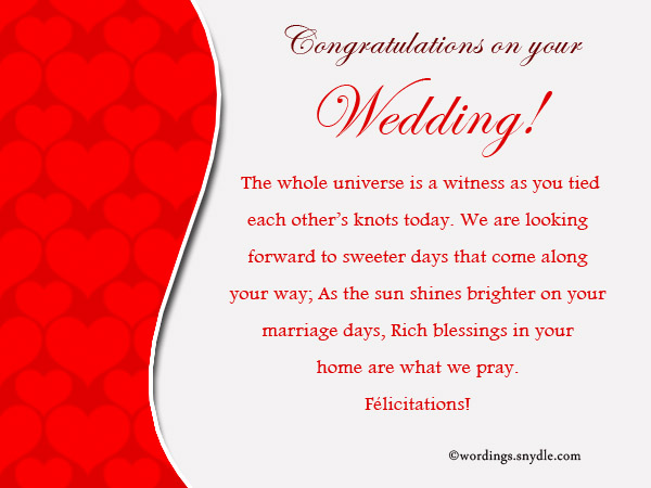 Best Wedding Wishes Samples