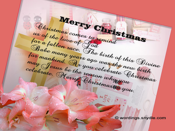 Best christian christmas messages greetings and wishes wordings christan christmas card messages m4hsunfo