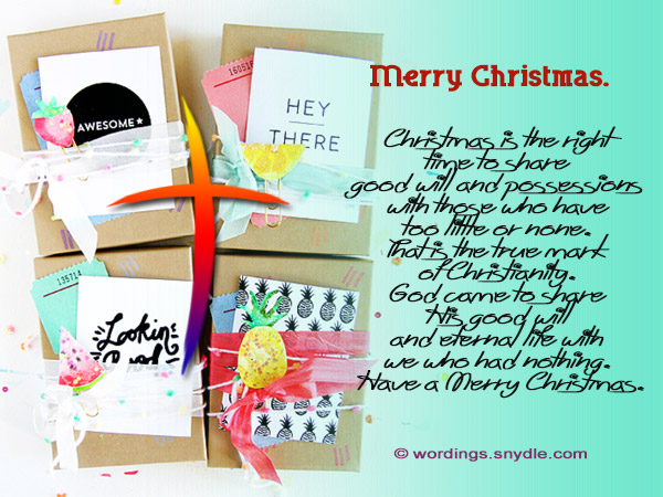 inspirational christian merry christmas messages