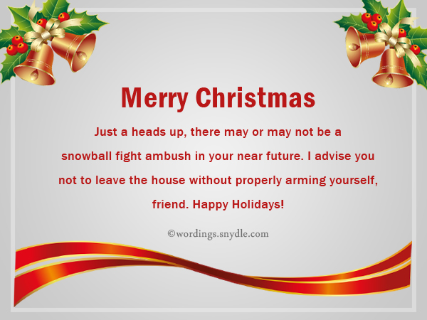 Funny Christmas Messages for Friends