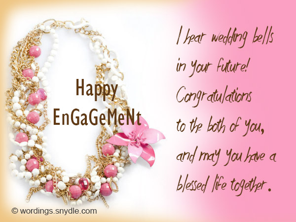 engagement wishes wordings and messages