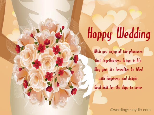 Wedding wishes messages and wedding day wishes wordings and messages best wedding wishes samples m4hsunfo