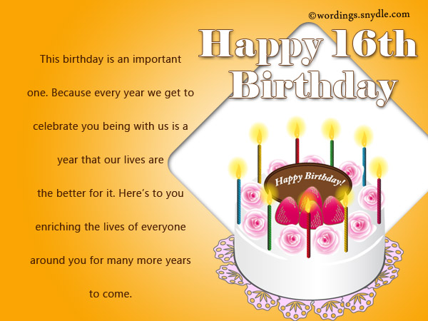 inspirational 16th birthday wishes