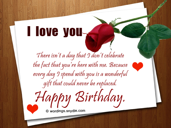 Love Birthday Quotes Alluring Romantic Birthday Wishes And Messages  Wordings And Messages