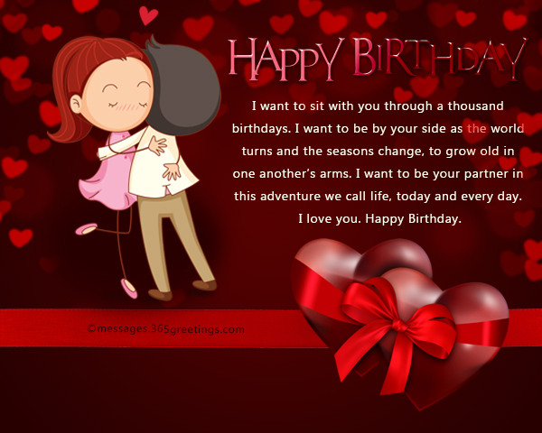 Birthday Wishes For Her Images ~ Romantic birthday wishes and messages wordings and messages