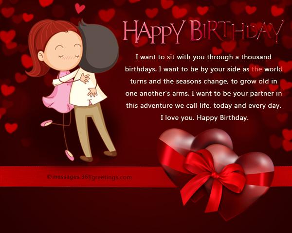Birthday Wishes For Him Love ~ Romantic birthday wishes and messages wordings and messages