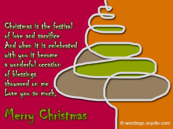 christmas greetings to husbands