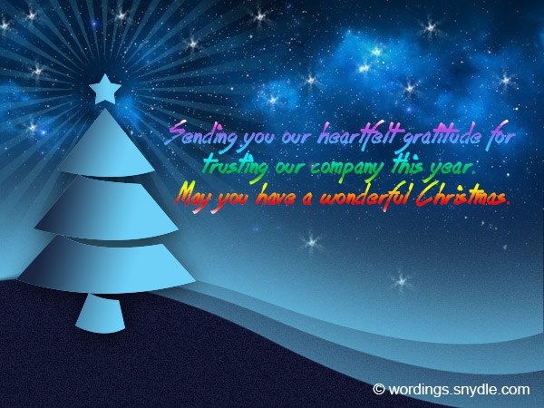 Christmas messages for business wordings and messages business christmas card messages reheart Image collections