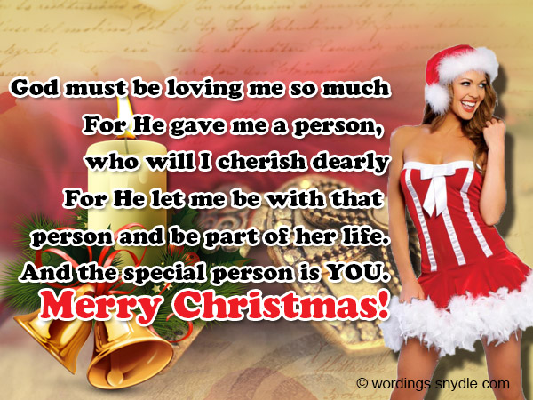 Christmas wishes to someone special