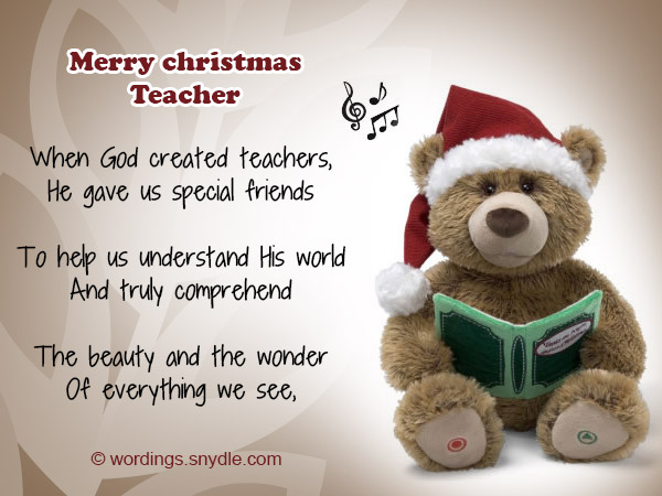 Christmas messages for teachers wordings and messages christmas greetings for teachers m4hsunfo