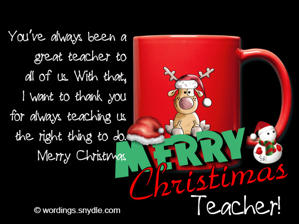 Christmas messages for teachers wordings and messages cards to teachers m4hsunfo