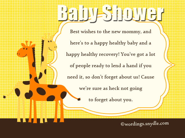Charming Baby Shower Messages