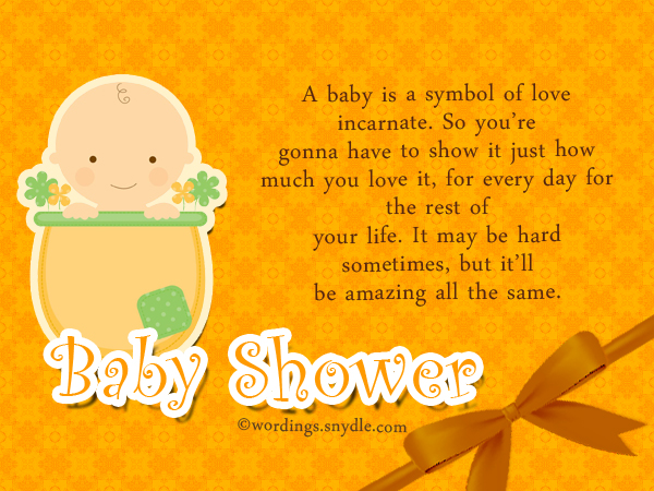Baby Shower Wishes - Wordings And Messages