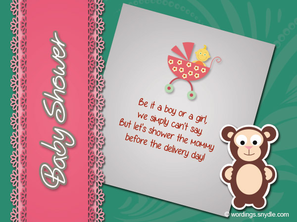 Wishes On Baby Showers ~ Baby shower wishes wordings and messages