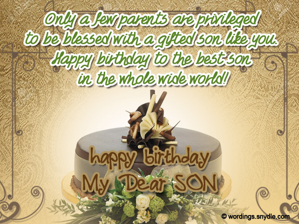 Birthday wishes for son wordings and messages birthday messages for son m4hsunfo