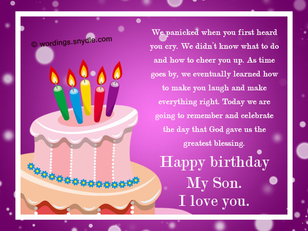 son birthday messages