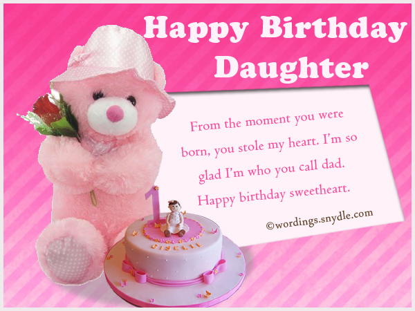 Birthday wishes for daughter wordings and messages birthday wishes for daughter from dad m4hsunfo