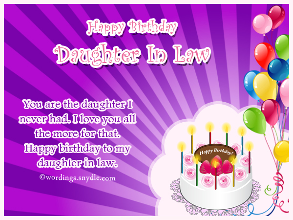 Birthday Wishes for Daughter Wordings and Messages – Happy Birthday Daughter in Law Cards