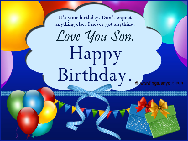 Birthday wishes for son wordings and messages son birthday wishes m4hsunfo