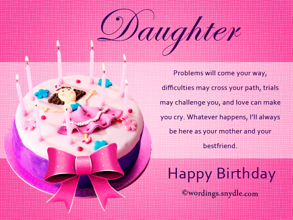 how to write a birthday card for a daughter