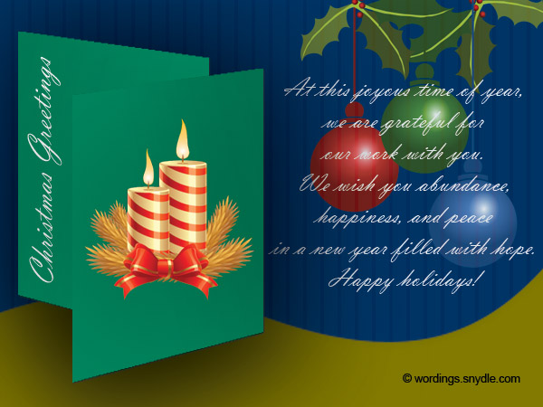 Christmas messages for Client