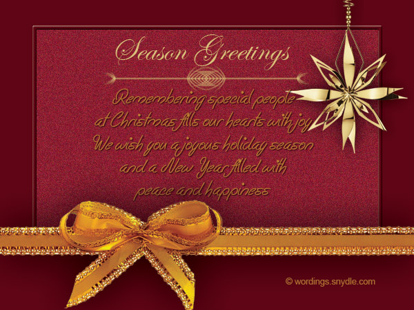 Business Christmas Greetings Messages