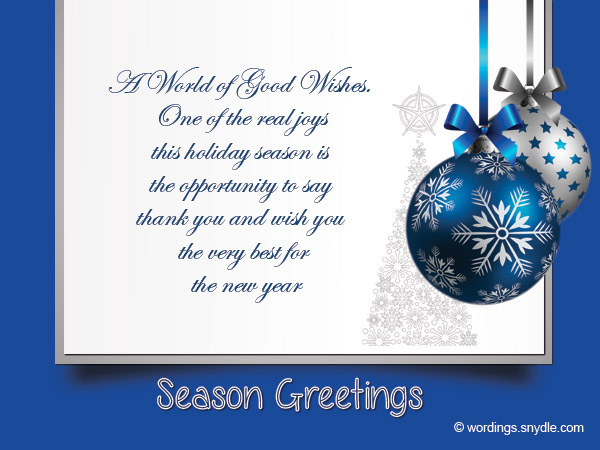 Christmas Messages for Business - Wordings and Messages