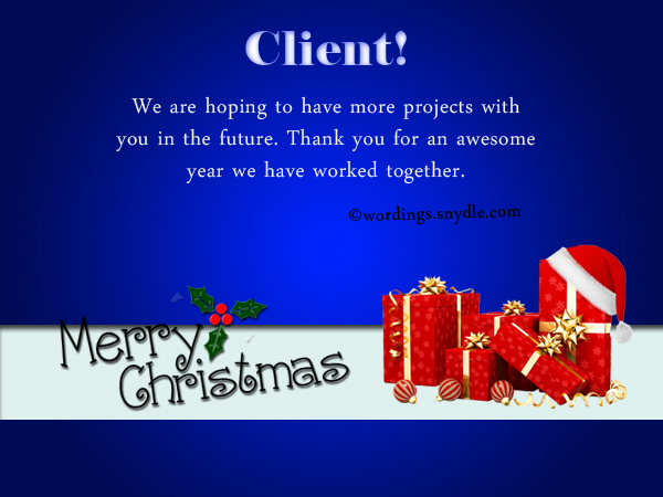 Christmas Messages for Your Client