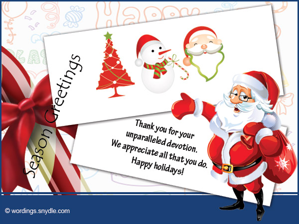 Christmas Messages for Employees - Wordings and Messages