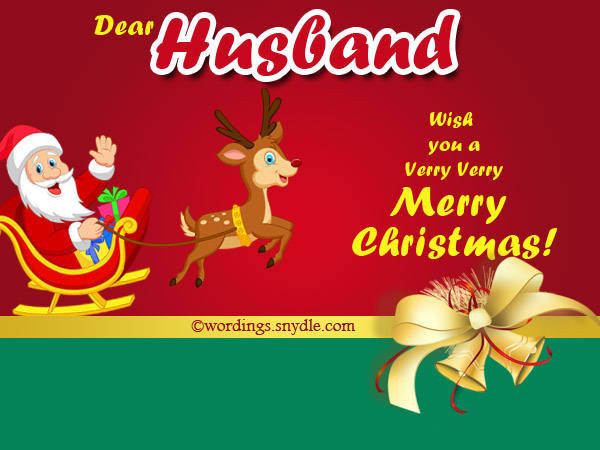 Christmas Greetings Wishes for Husband