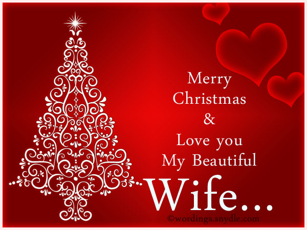 happy christmas greetings for wife