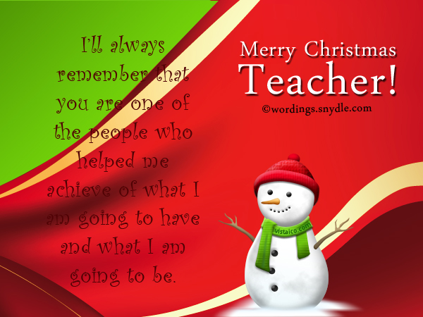 Merry Christmas Teacher Quotes.Christmas Messages For Teachers Wordings And Messages