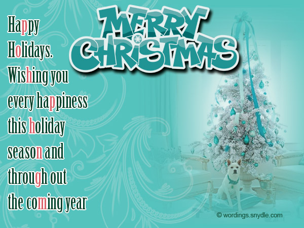 Holiday Wishes Business Letter