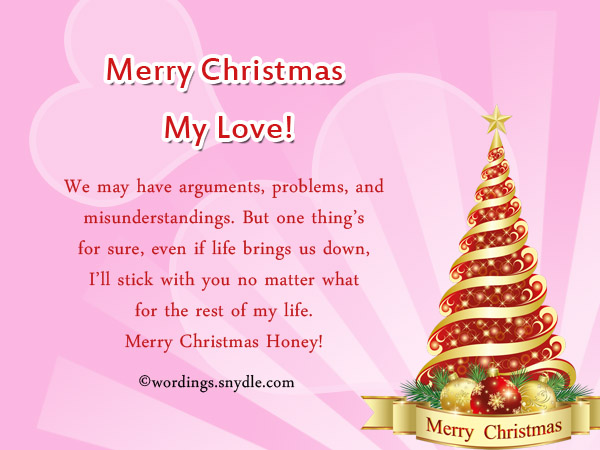 Christmas messages for wife wordings and messages merry christmas cardsr wife m4hsunfo