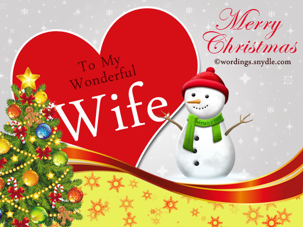 Merry Christmas Messages for your Wife