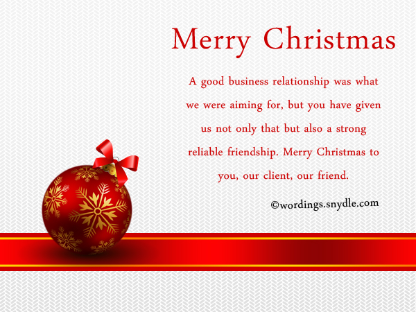 merry christmas messages for client