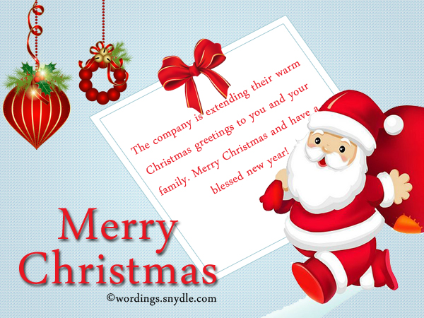 messages for employees - Christmas Greetings Phrases