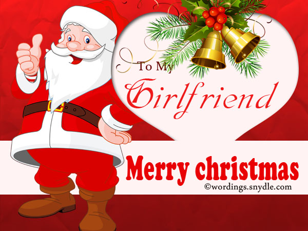 christmas card to girl friend
