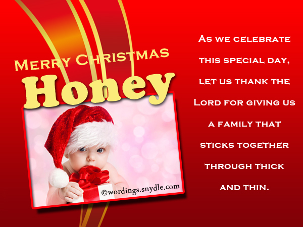 merry christmas to honey