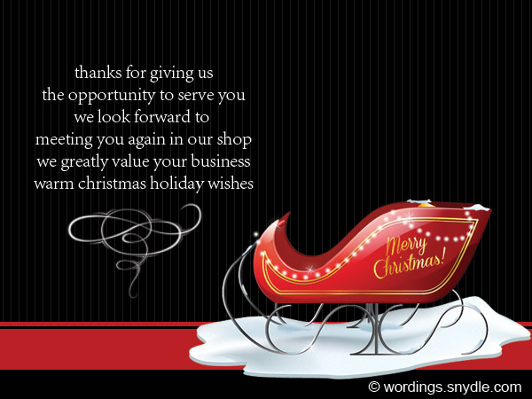 Christmas Card Messages for Your Client