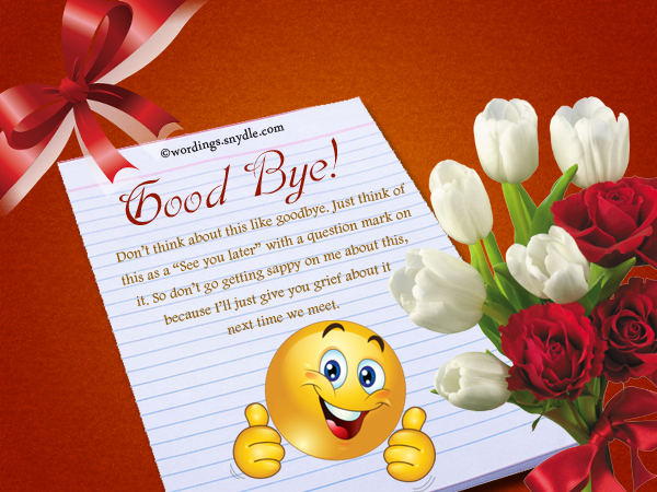 Farewell Messages - Wordings and Messages
