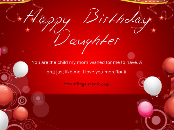 funny birthday wishes for daughter