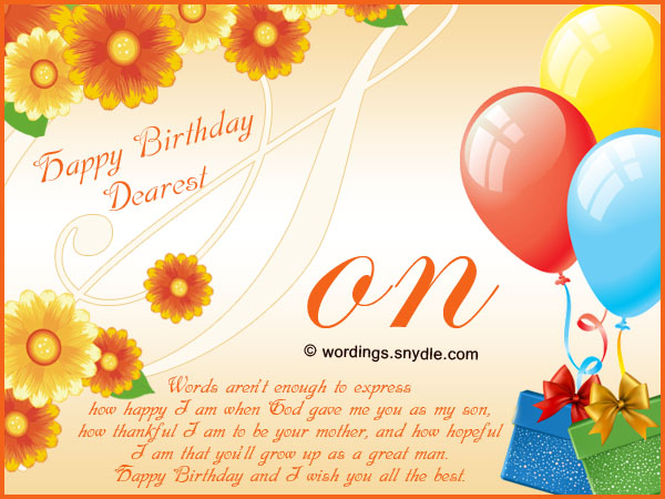 Magnificent Birthday Wishes For Son Wordings And Messages Personalised Birthday Cards Veneteletsinfo