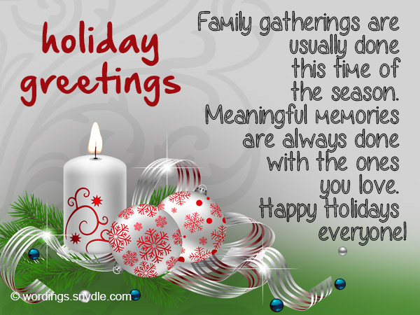 greeting happy holidays