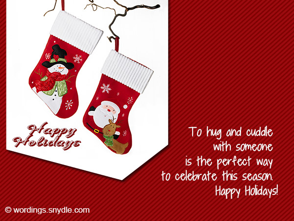 massage wishing happy holiday cards