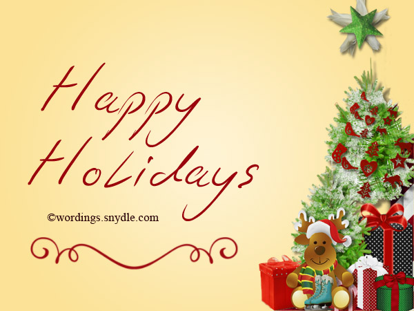 Happy Holiday Greetings, Messages And Wishes - Wordings And Messages