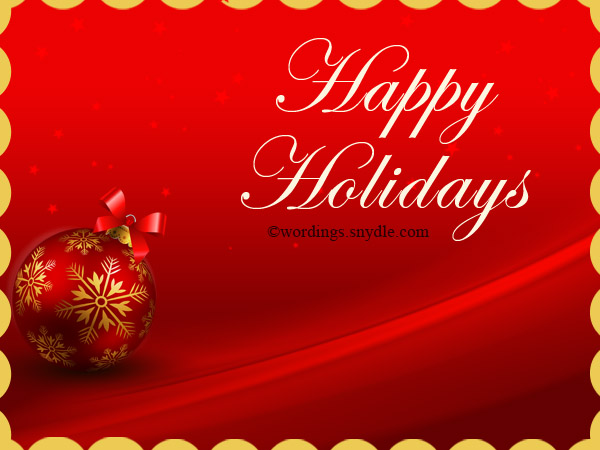 Happy holiday greetings messages and wishes wordings and messages holiday cards m4hsunfo